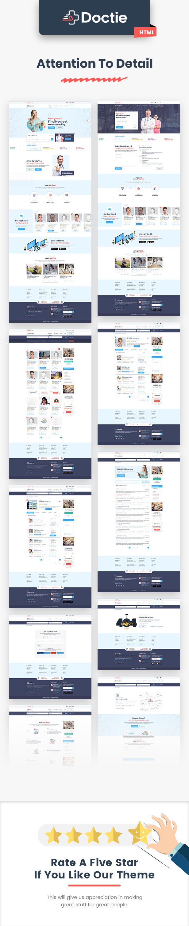 Doclist - Medical and Doctor Directory HTML Template - 5