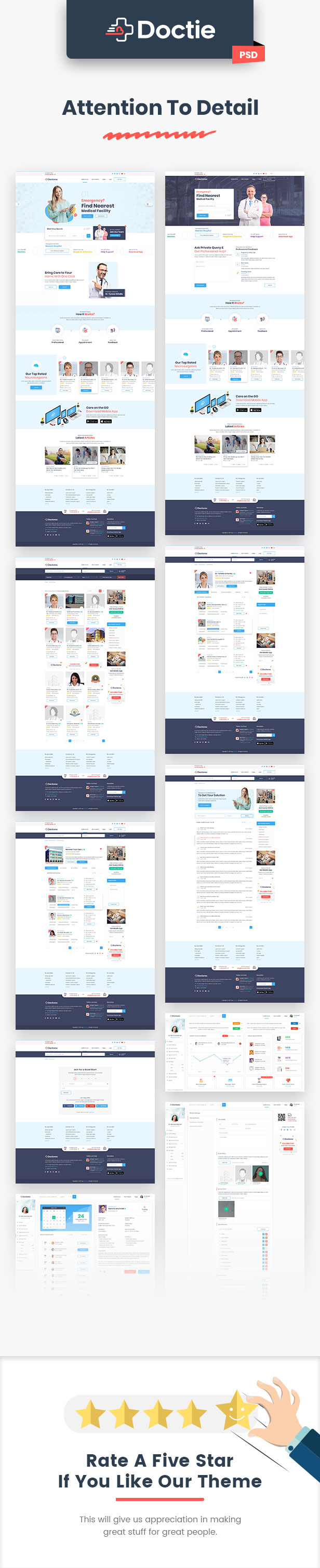 Doctoroc - Medical and Doctor Directory PSD Template - 4