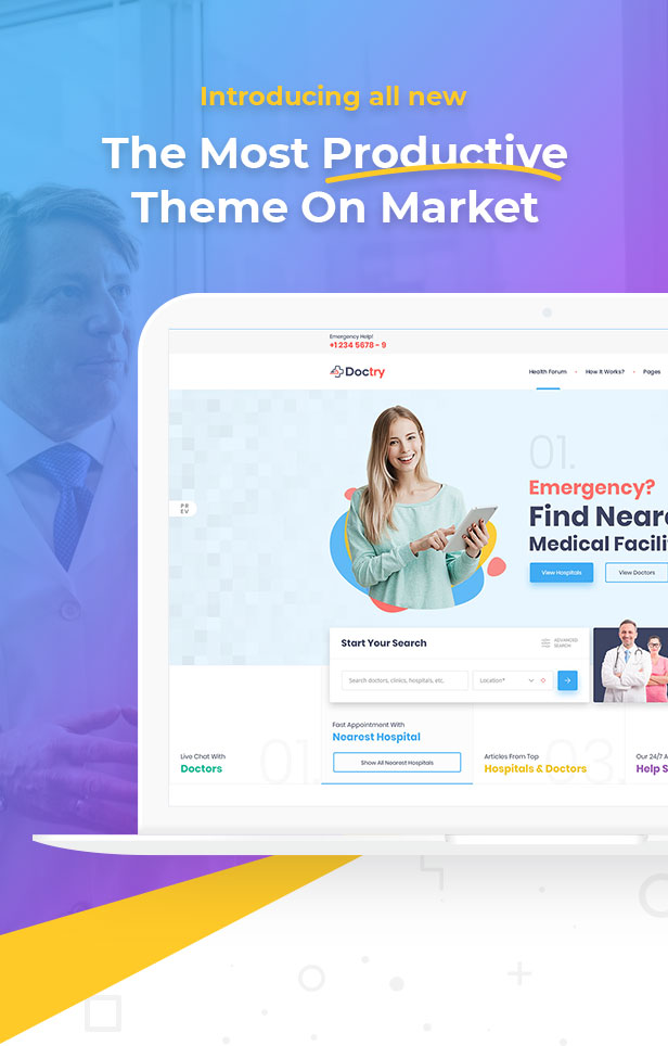 Doctry - Doctors and Hospitals Listing Theme - 7