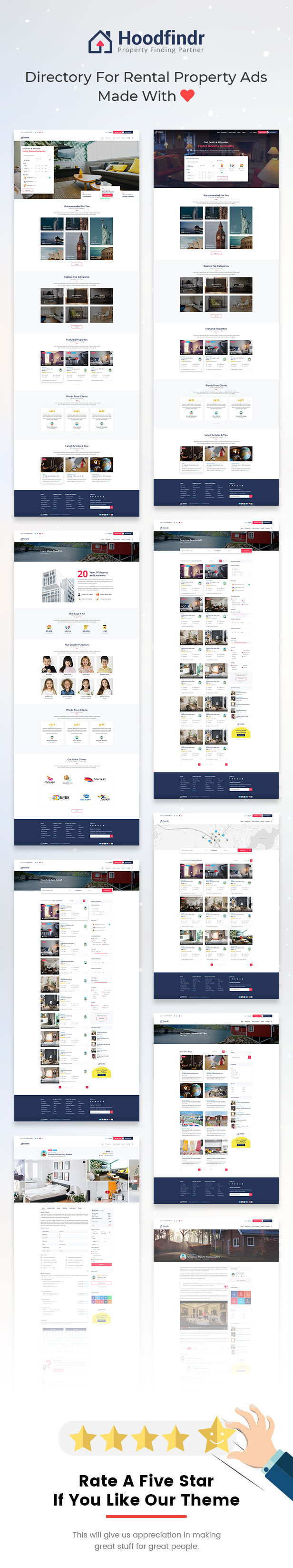 Hoodfindr - Property Booking PSD Template - 1