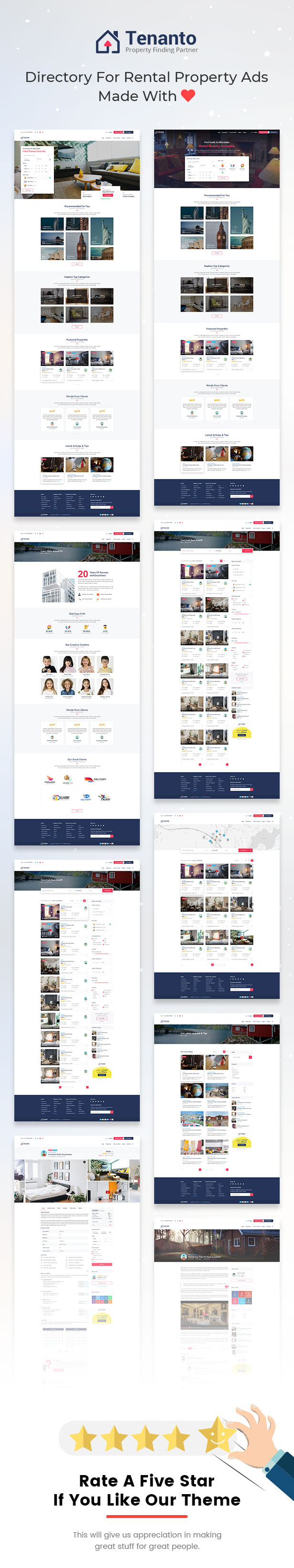 Tenanto - Homes and Property Rental Template - 4